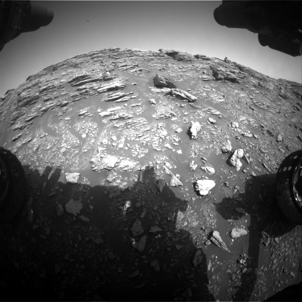 Nasa's Mars rover Curiosity acquired this image using its Front Hazard Avoidance Camera (Front Hazcam) on Sol 2940, at drive 1584, site number 83