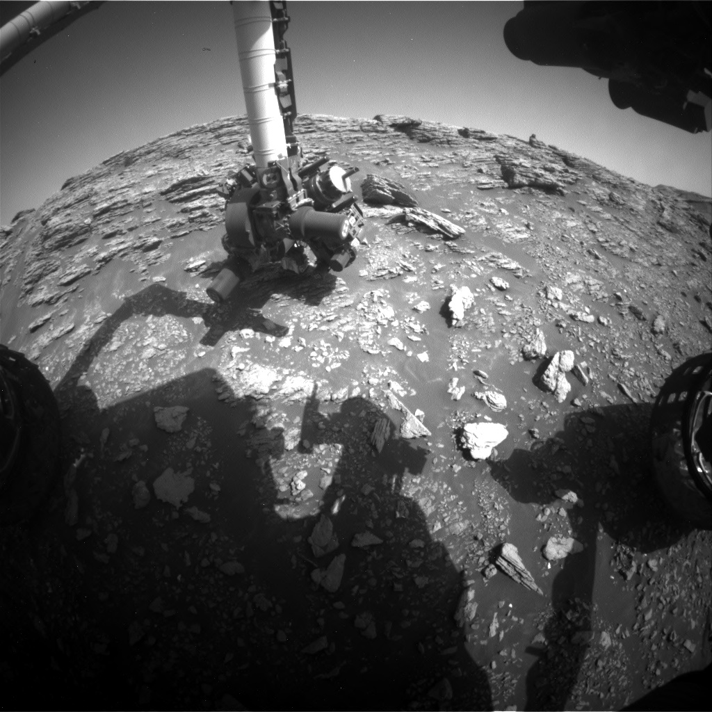 Nasa's Mars rover Curiosity acquired this image using its Front Hazard Avoidance Camera (Front Hazcam) on Sol 2942, at drive 1584, site number 83