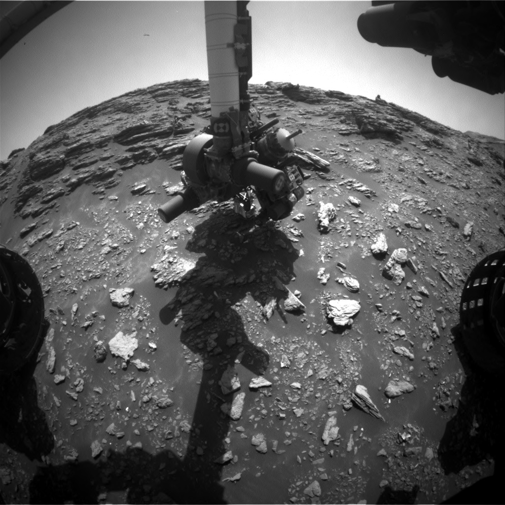 Nasa's Mars rover Curiosity acquired this image using its Front Hazard Avoidance Camera (Front Hazcam) on Sol 2943, at drive 1584, site number 83