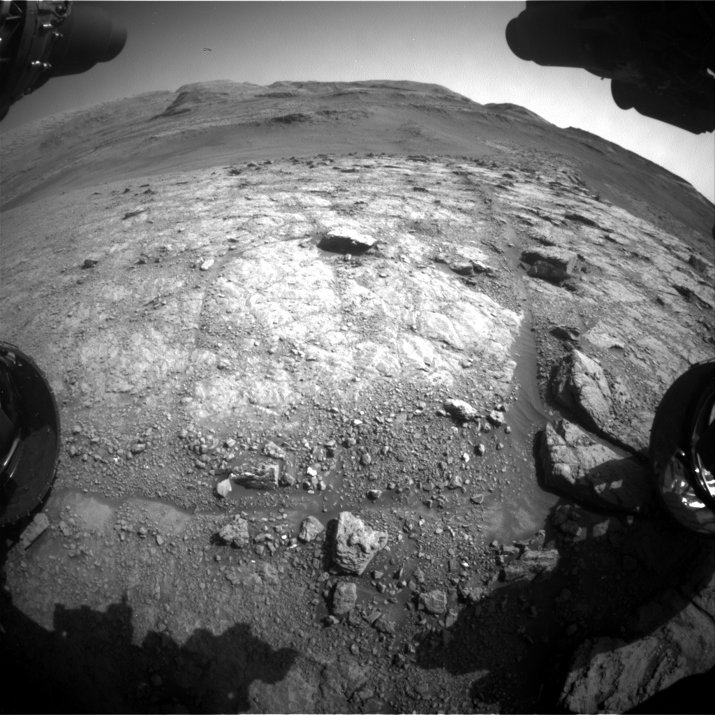 Nasa's Mars rover Curiosity acquired this image using its Front Hazard Avoidance Camera (Front Hazcam) on Sol 2943, at drive 1974, site number 83