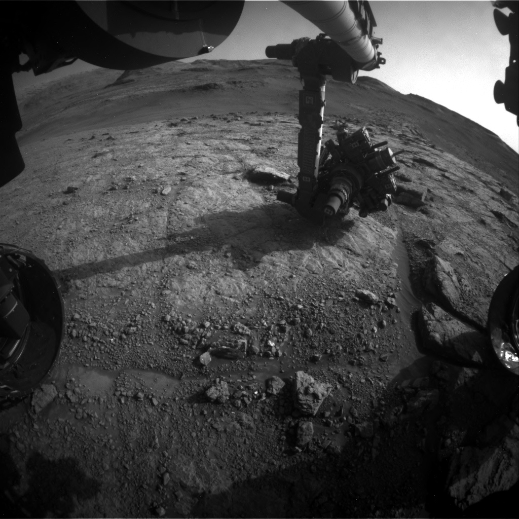 Nasa's Mars rover Curiosity acquired this image using its Front Hazard Avoidance Camera (Front Hazcam) on Sol 2945, at drive 1974, site number 83