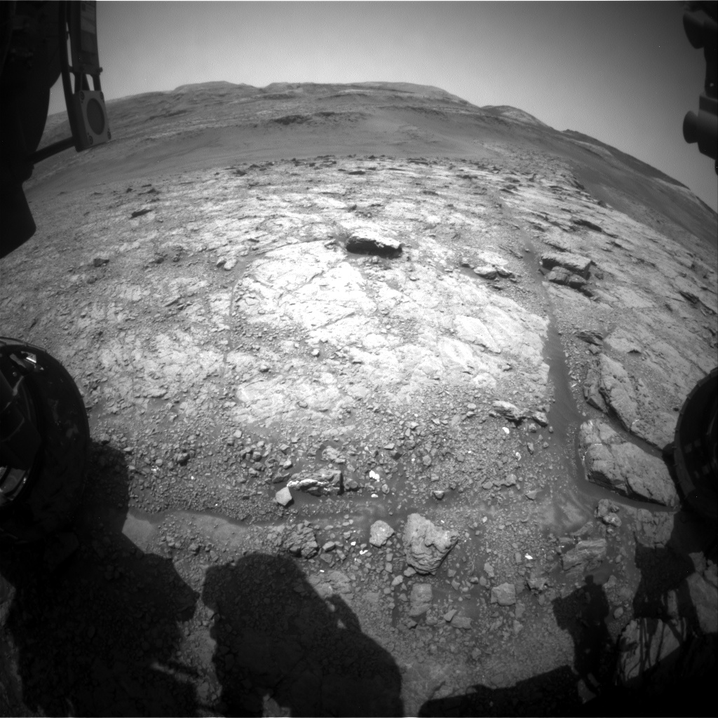 Nasa's Mars rover Curiosity acquired this image using its Front Hazard Avoidance Camera (Front Hazcam) on Sol 2946, at drive 1974, site number 83