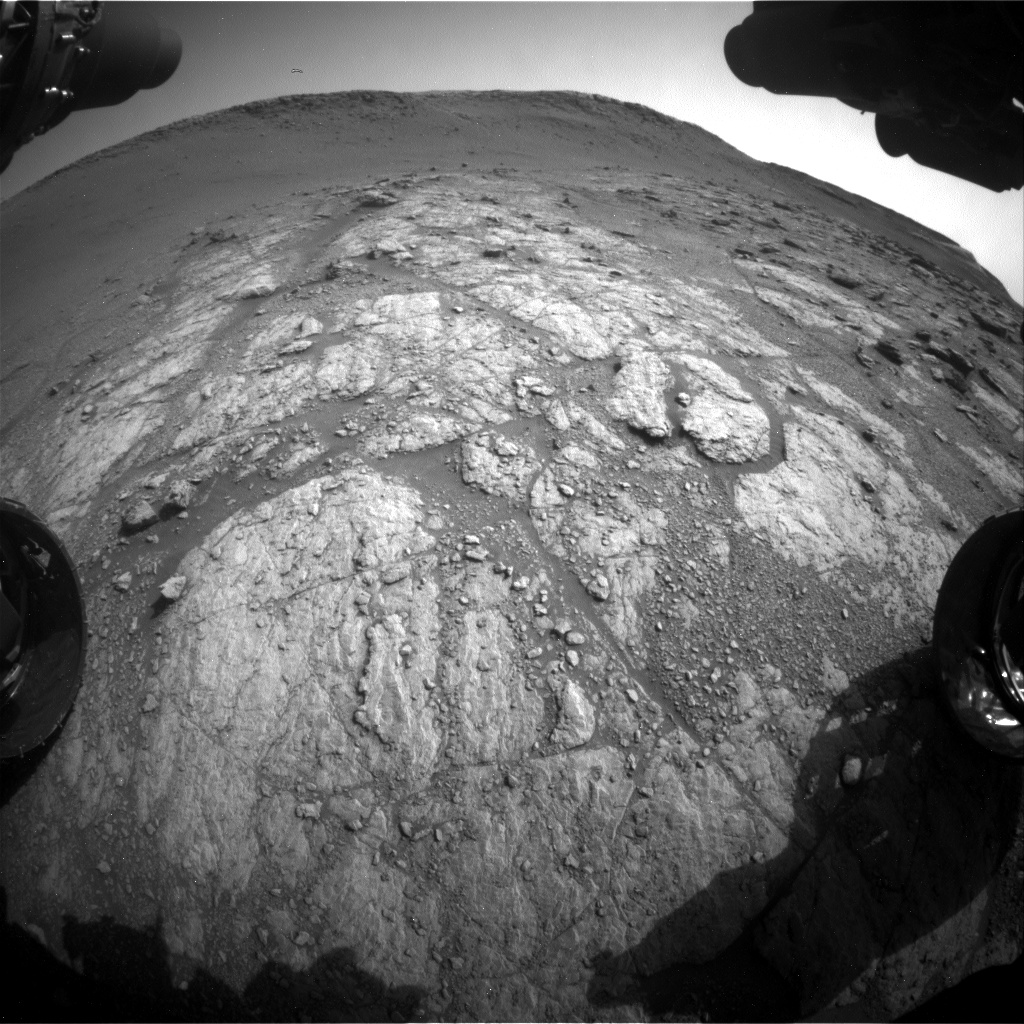 Nasa's Mars rover Curiosity acquired this image using its Front Hazard Avoidance Camera (Front Hazcam) on Sol 2947, at drive 2382, site number 83