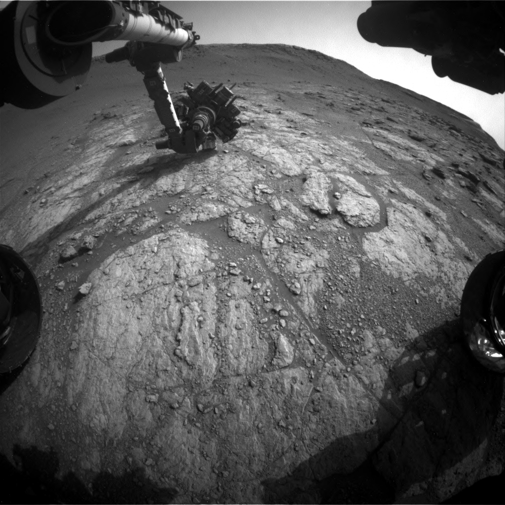 Nasa's Mars rover Curiosity acquired this image using its Front Hazard Avoidance Camera (Front Hazcam) on Sol 2949, at drive 2382, site number 83