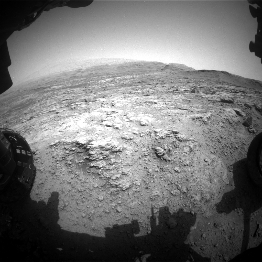 Nasa's Mars rover Curiosity acquired this image using its Front Hazard Avoidance Camera (Front Hazcam) on Sol 2950, at drive 2580, site number 83
