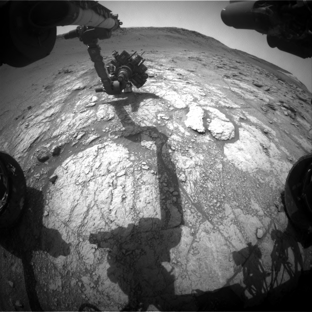 Nasa's Mars rover Curiosity acquired this image using its Front Hazard Avoidance Camera (Front Hazcam) on Sol 2950, at drive 2382, site number 83