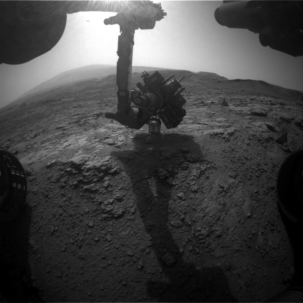 Nasa's Mars rover Curiosity acquired this image using its Front Hazard Avoidance Camera (Front Hazcam) on Sol 2951, at drive 2580, site number 83