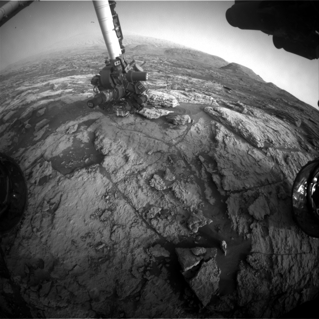Nasa's Mars rover Curiosity acquired this image using its Front Hazard Avoidance Camera (Front Hazcam) on Sol 2955, at drive 2796, site number 83