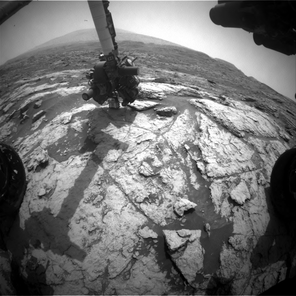 Nasa's Mars rover Curiosity acquired this image using its Front Hazard Avoidance Camera (Front Hazcam) on Sol 2956, at drive 2796, site number 83