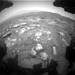 Nasa's Mars rover Curiosity acquired this image using its Front Hazard Avoidance Camera (Front Hazcam) on Sol 2956, at drive 3090, site number 83