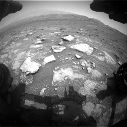 Nasa's Mars rover Curiosity acquired this image using its Front Hazard Avoidance Camera (Front Hazcam) on Sol 2956, at drive 3168, site number 83