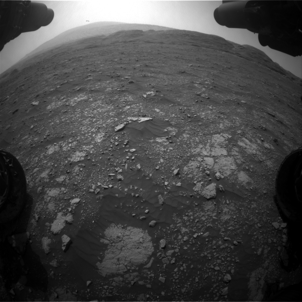 Nasa's Mars rover Curiosity acquired this image using its Front Hazard Avoidance Camera (Front Hazcam) on Sol 2968, at drive 1360, site number 84