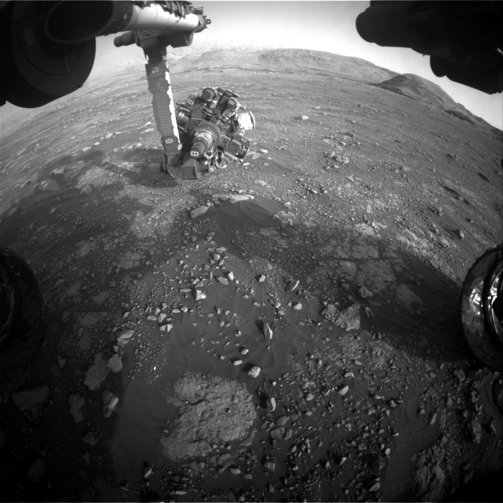 Nasa's Mars rover Curiosity acquired this image using its Front Hazard Avoidance Camera (Front Hazcam) on Sol 2969, at drive 1360, site number 84
