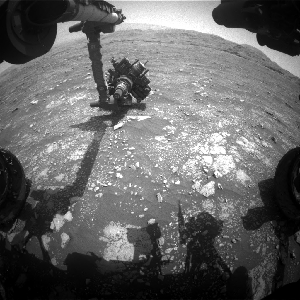Nasa's Mars rover Curiosity acquired this image using its Front Hazard Avoidance Camera (Front Hazcam) on Sol 2970, at drive 1360, site number 84
