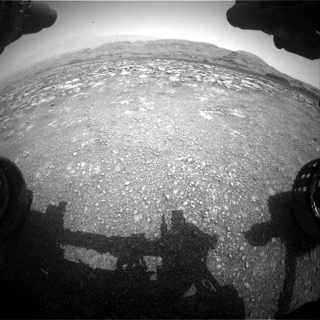 Nasa's Mars rover Curiosity acquired this image using its Front Hazard Avoidance Camera (Front Hazcam) on Sol 2970, at drive 1492, site number 84