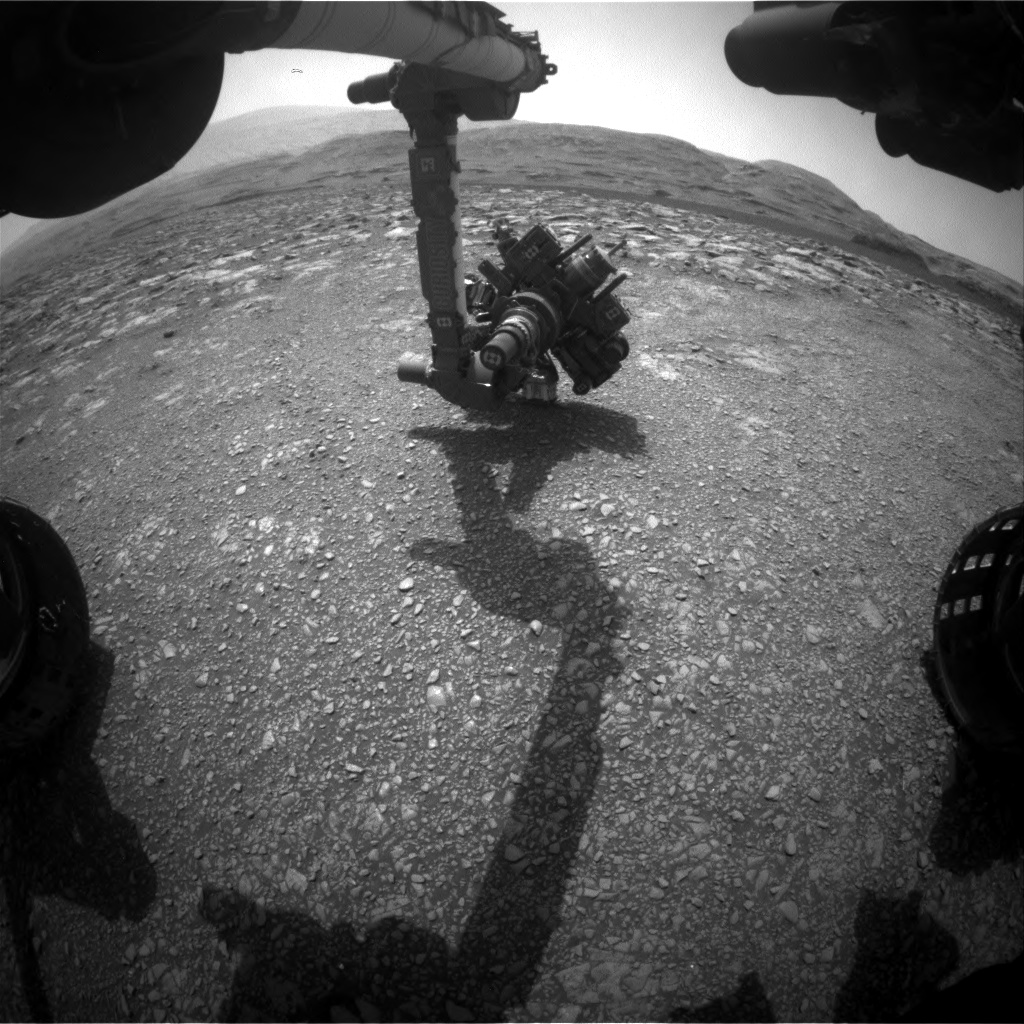 Nasa's Mars rover Curiosity acquired this image using its Front Hazard Avoidance Camera (Front Hazcam) on Sol 2972, at drive 1492, site number 84