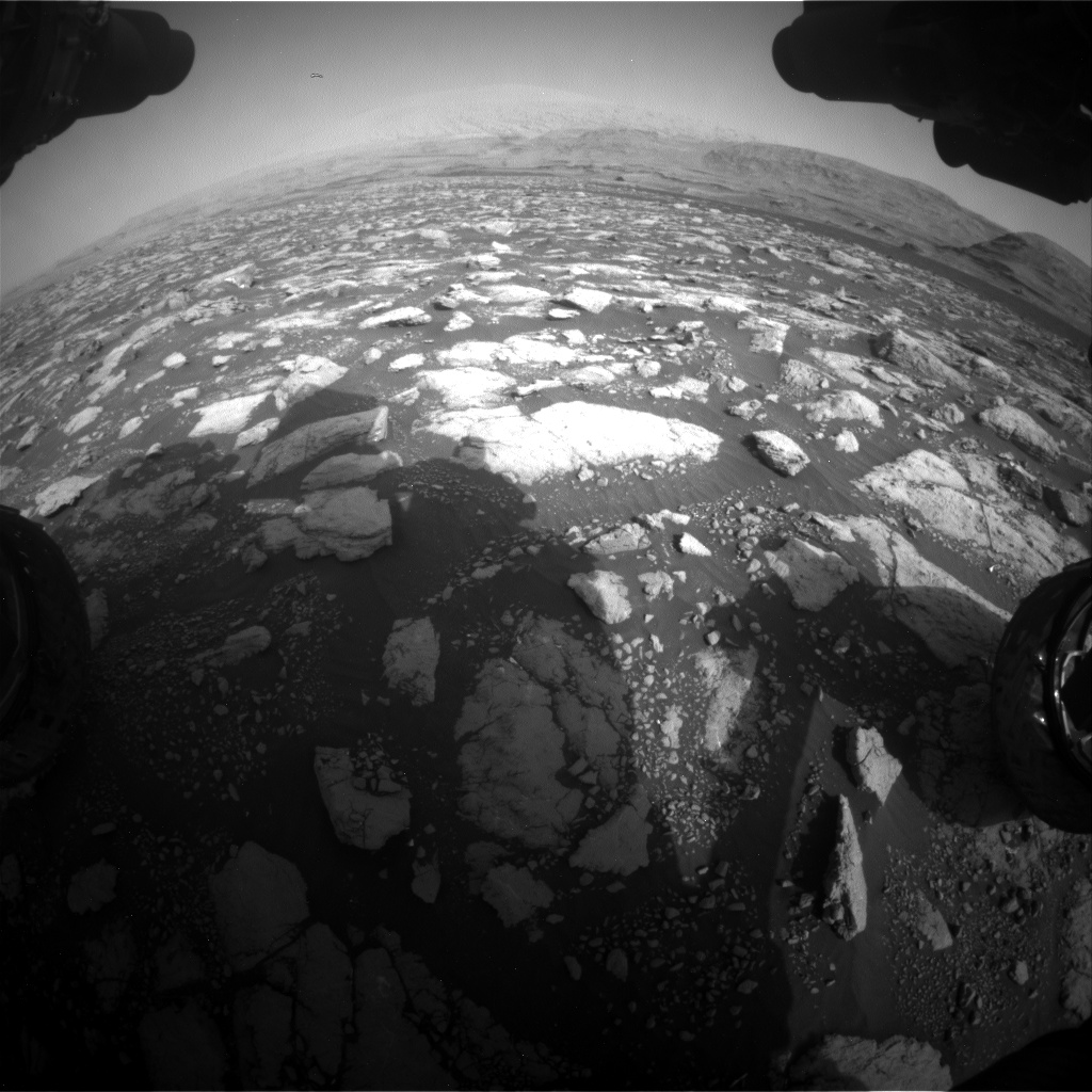 Nasa's Mars rover Curiosity acquired this image using its Front Hazard Avoidance Camera (Front Hazcam) on Sol 2972, at drive 1594, site number 84