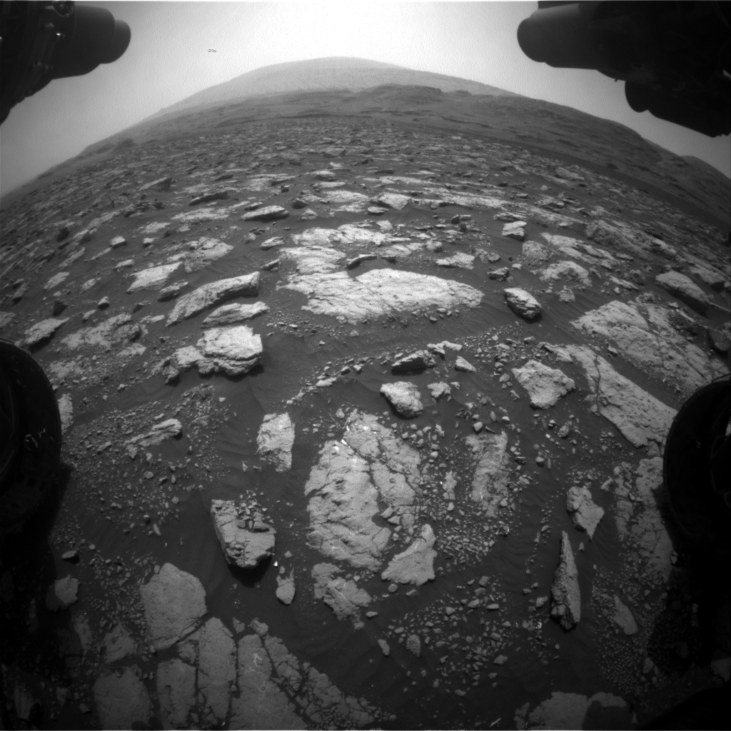 Nasa's Mars rover Curiosity acquired this image using its Front Hazard Avoidance Camera (Front Hazcam) on Sol 2973, at drive 1594, site number 84