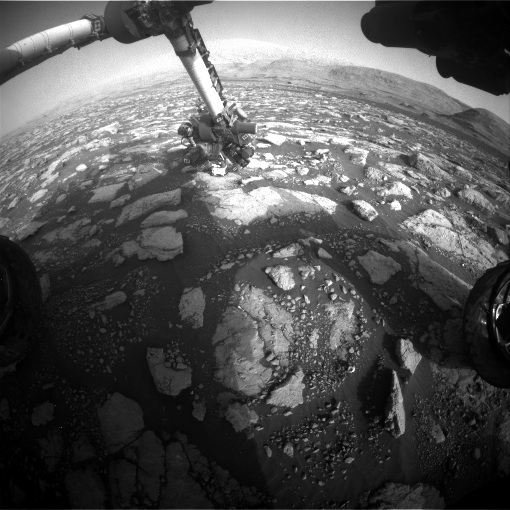 Nasa's Mars rover Curiosity acquired this image using its Front Hazard Avoidance Camera (Front Hazcam) on Sol 2974, at drive 1594, site number 84