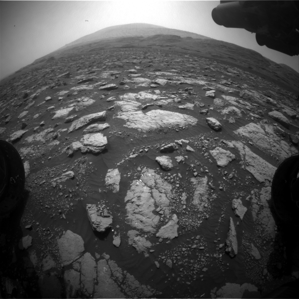 Nasa's Mars rover Curiosity acquired this image using its Front Hazard Avoidance Camera (Front Hazcam) on Sol 2975, at drive 1594, site number 84