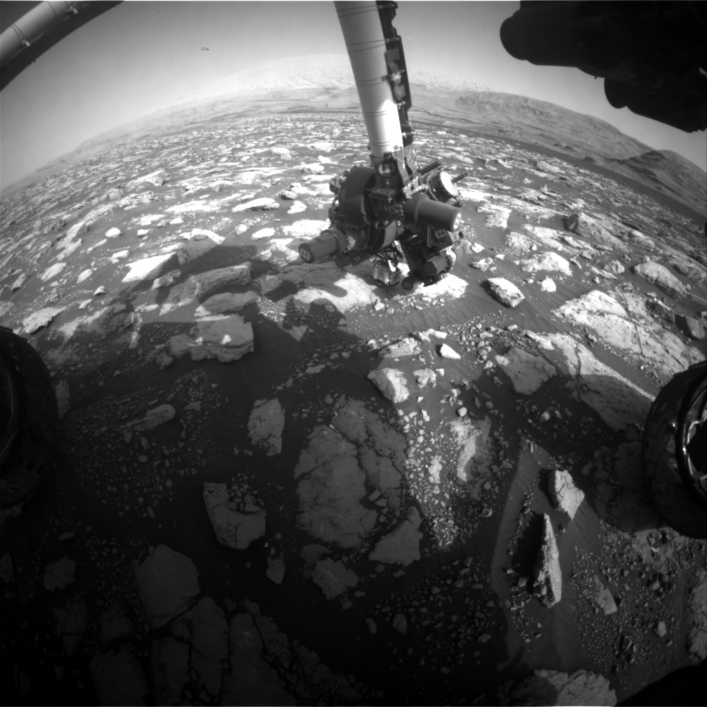 Nasa's Mars rover Curiosity acquired this image using its Front Hazard Avoidance Camera (Front Hazcam) on Sol 2976, at drive 1594, site number 84