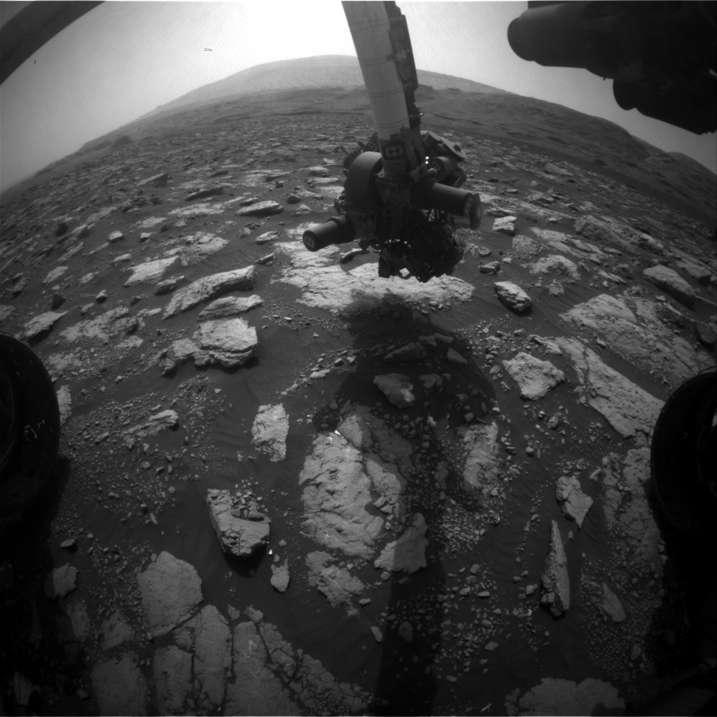 Nasa's Mars rover Curiosity acquired this image using its Front Hazard Avoidance Camera (Front Hazcam) on Sol 2977, at drive 1594, site number 84