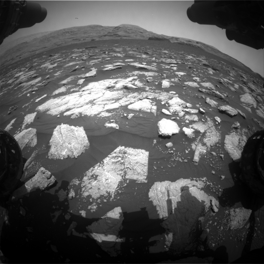 Nasa's Mars rover Curiosity acquired this image using its Front Hazard Avoidance Camera (Front Hazcam) on Sol 2977, at drive 1804, site number 84