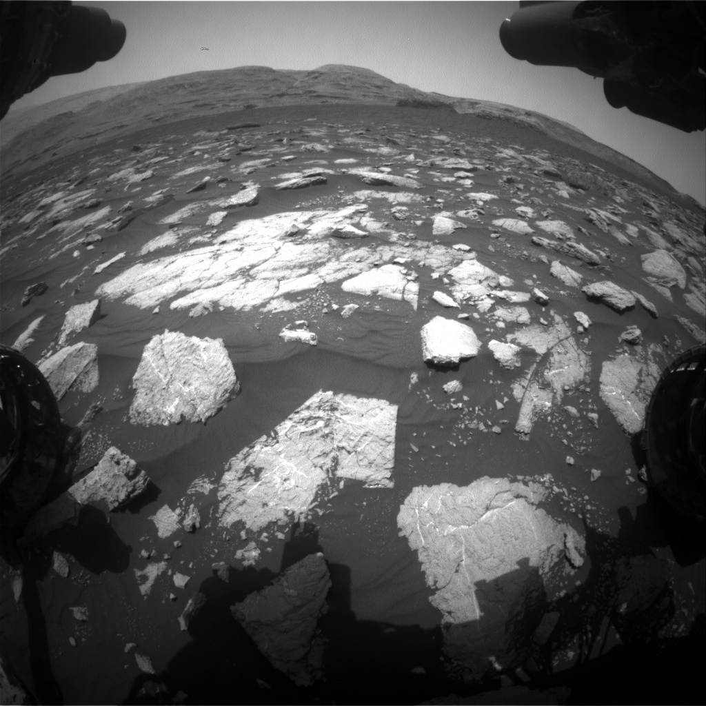 Nasa's Mars rover Curiosity acquired this image using its Front Hazard Avoidance Camera (Front Hazcam) on Sol 2978, at drive 1804, site number 84