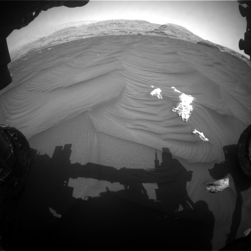 Nasa's Mars rover Curiosity acquired this image using its Front Hazard Avoidance Camera (Front Hazcam) on Sol 2979, at drive 2044, site number 84