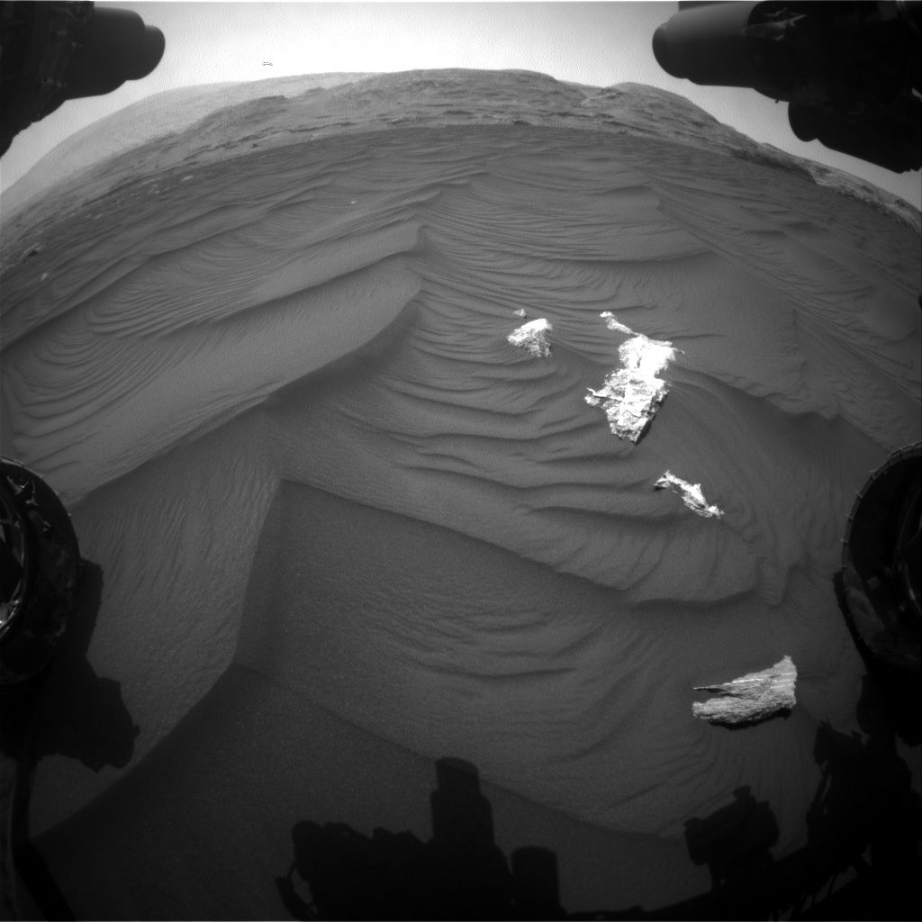 Nasa's Mars rover Curiosity acquired this image using its Front Hazard Avoidance Camera (Front Hazcam) on Sol 2985, at drive 2044, site number 84