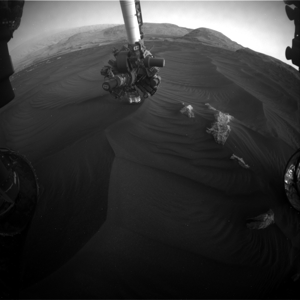 Nasa's Mars rover Curiosity acquired this image using its Front Hazard Avoidance Camera (Front Hazcam) on Sol 2989, at drive 2044, site number 84