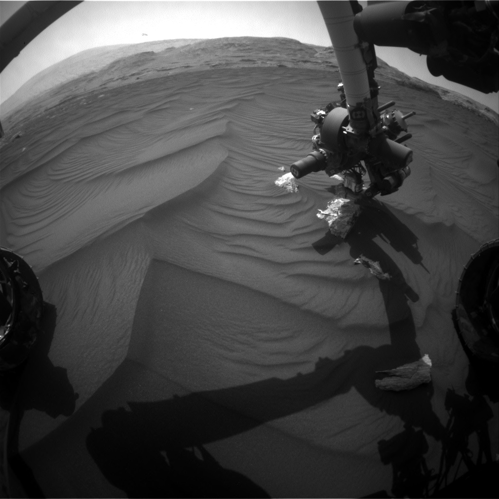 Nasa's Mars rover Curiosity acquired this image using its Front Hazard Avoidance Camera (Front Hazcam) on Sol 2990, at drive 2044, site number 84