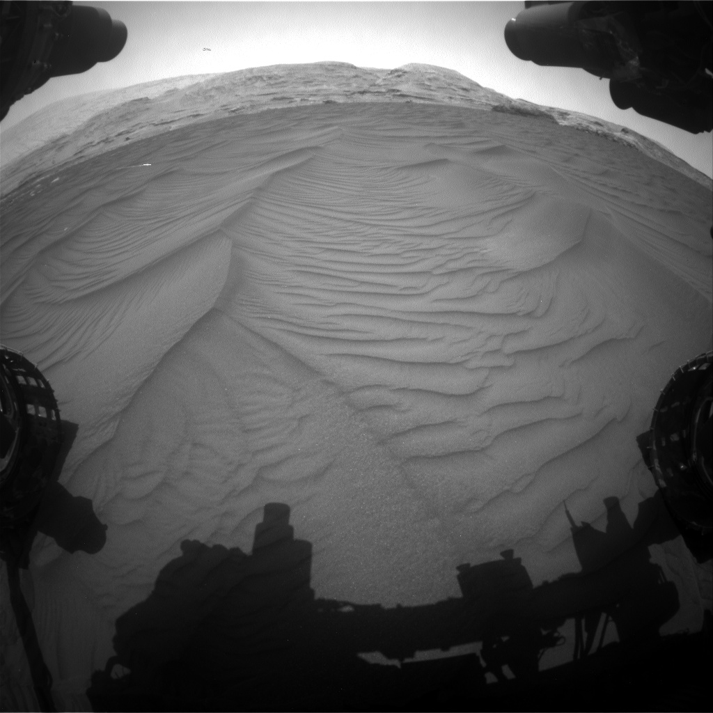 Nasa's Mars rover Curiosity acquired this image using its Front Hazard Avoidance Camera (Front Hazcam) on Sol 2991, at drive 2104, site number 84