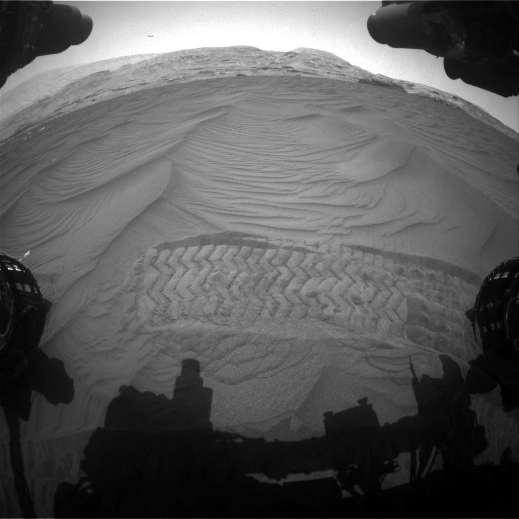 Nasa's Mars rover Curiosity acquired this image using its Front Hazard Avoidance Camera (Front Hazcam) on Sol 2991, at drive 2120, site number 84