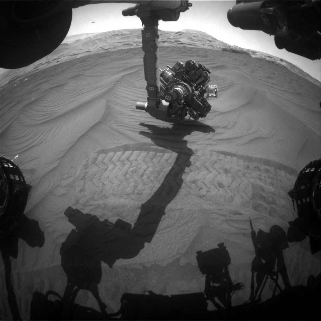 Nasa's Mars rover Curiosity acquired this image using its Front Hazard Avoidance Camera (Front Hazcam) on Sol 2993, at drive 2120, site number 84