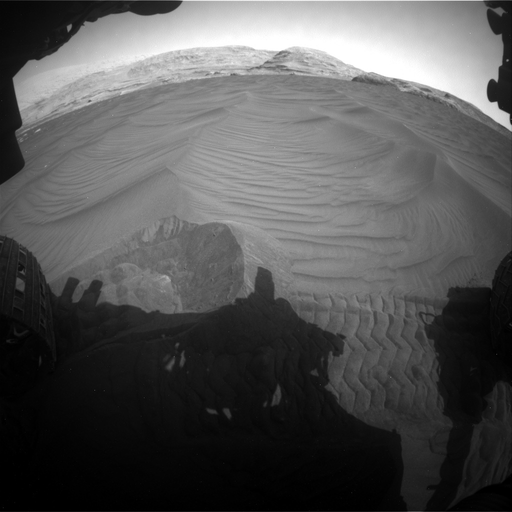 Nasa's Mars rover Curiosity acquired this image using its Front Hazard Avoidance Camera (Front Hazcam) on Sol 2995, at drive 2148, site number 84