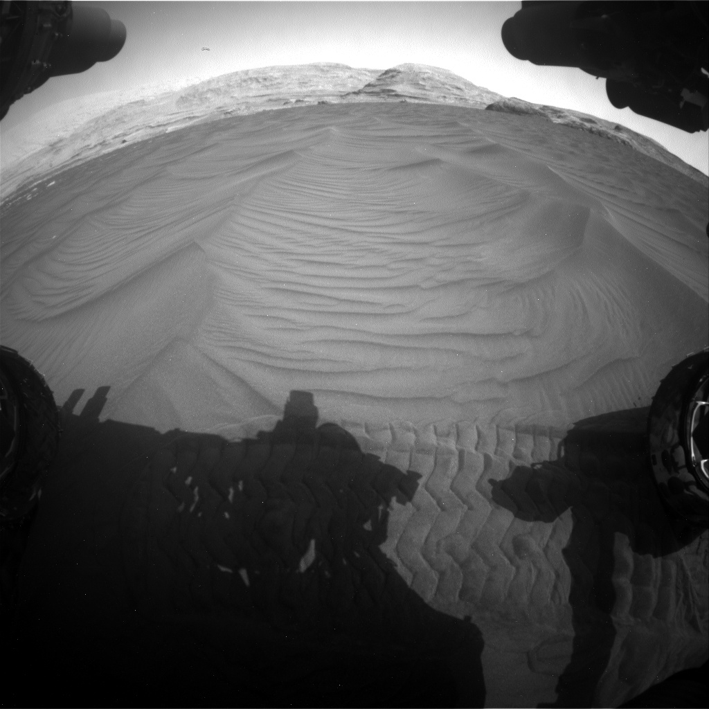 Nasa's Mars rover Curiosity acquired this image using its Front Hazard Avoidance Camera (Front Hazcam) on Sol 2995, at drive 2132, site number 84