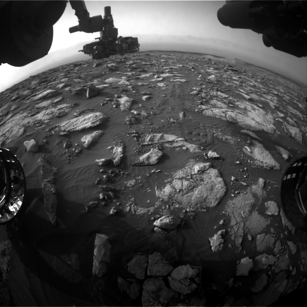 Nasa's Mars rover Curiosity acquired this image using its Front Hazard Avoidance Camera (Front Hazcam) on Sol 2996, at drive 2352, site number 84