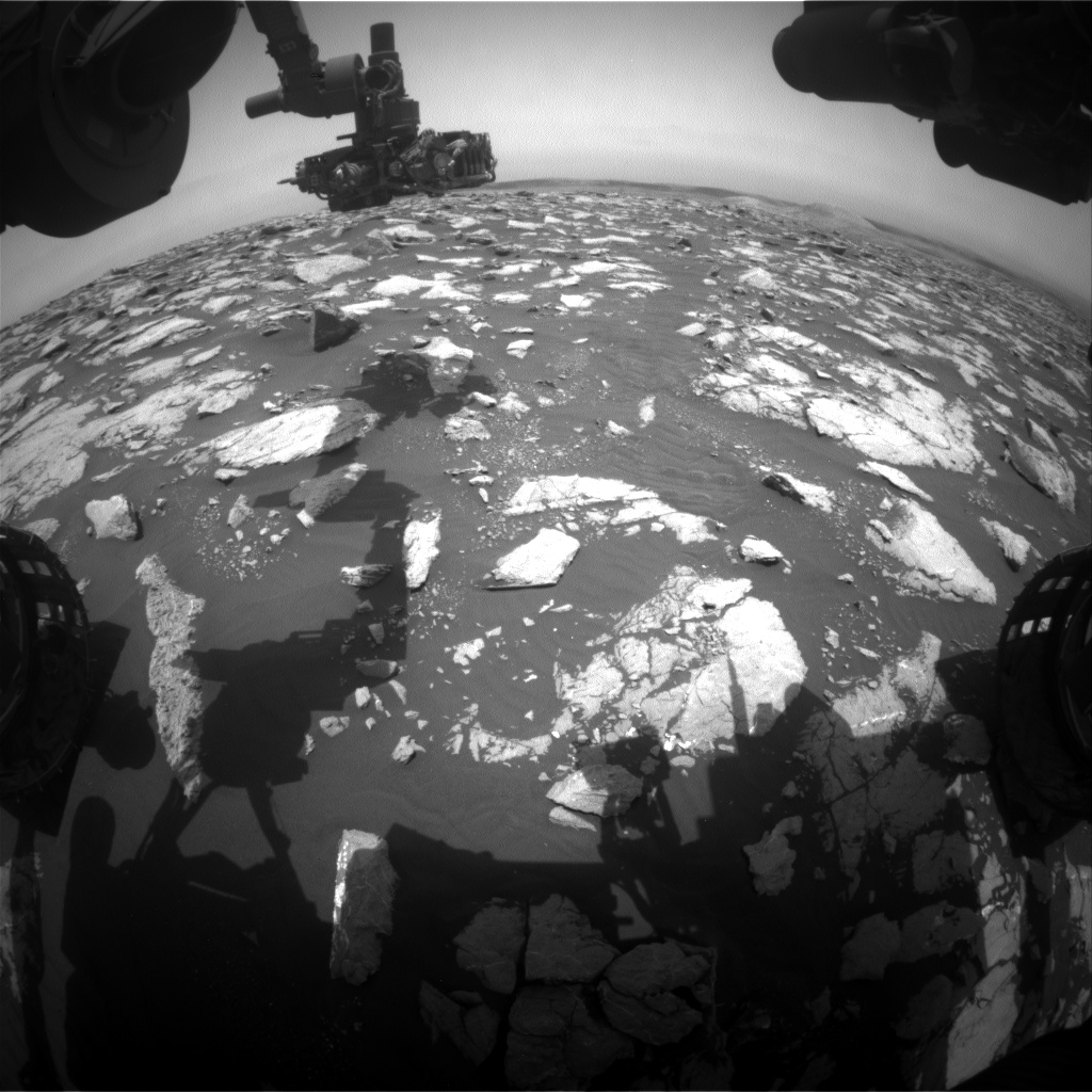 Nasa's Mars rover Curiosity acquired this image using its Front Hazard Avoidance Camera (Front Hazcam) on Sol 2997, at drive 2352, site number 84