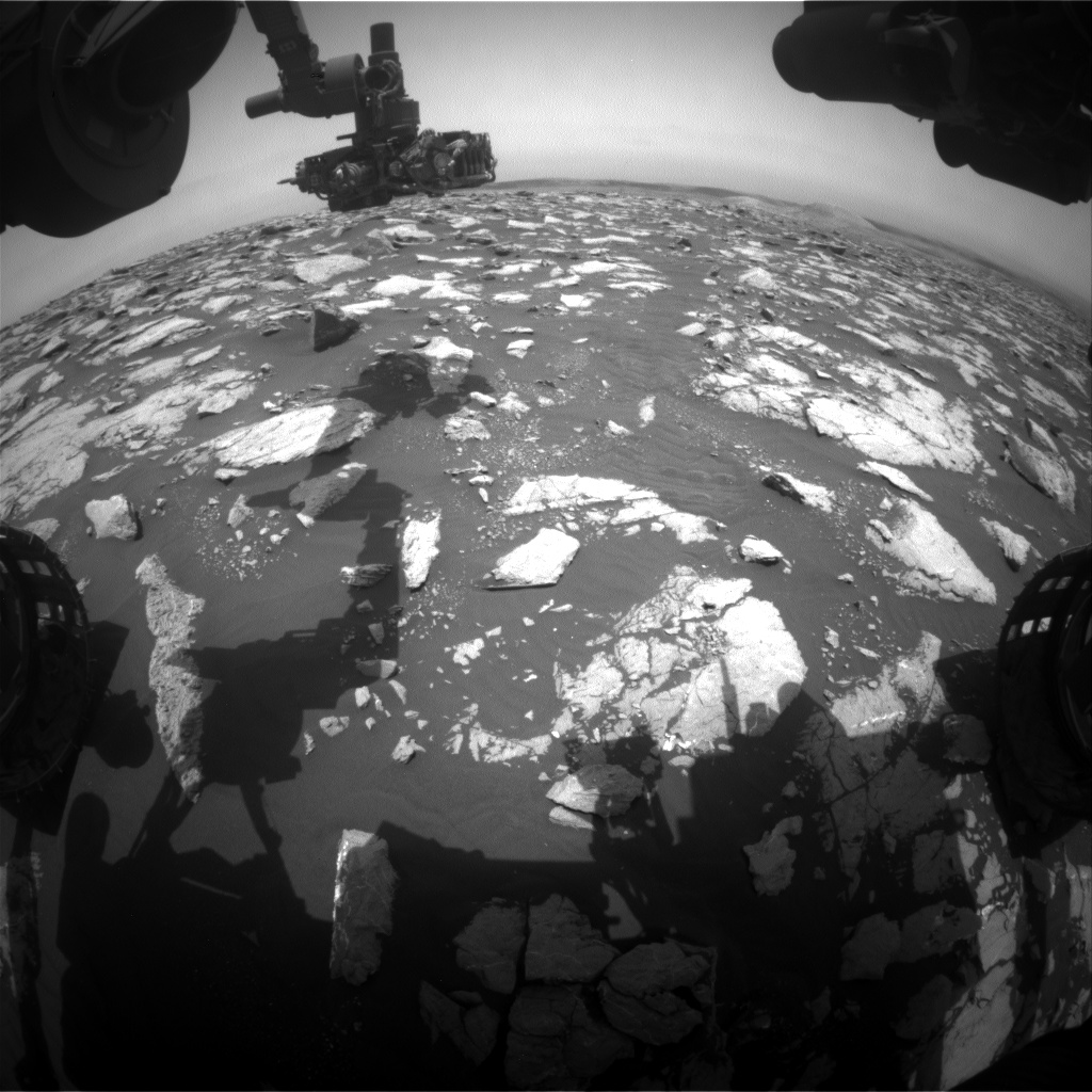 Nasa's Mars rover Curiosity acquired this image using its Front Hazard Avoidance Camera (Front Hazcam) on Sol 2998, at drive 2352, site number 84