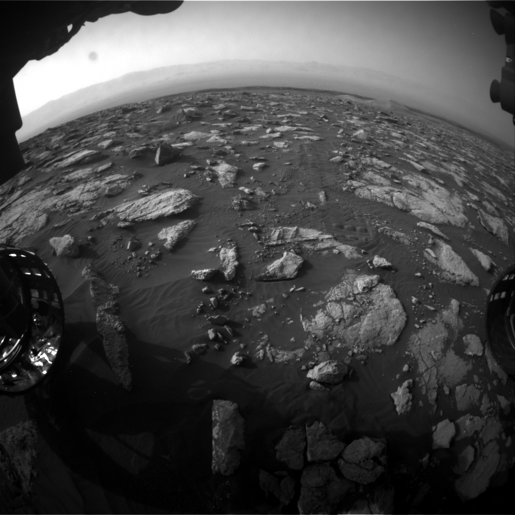 Nasa's Mars rover Curiosity acquired this image using its Front Hazard Avoidance Camera (Front Hazcam) on Sol 2999, at drive 2352, site number 84