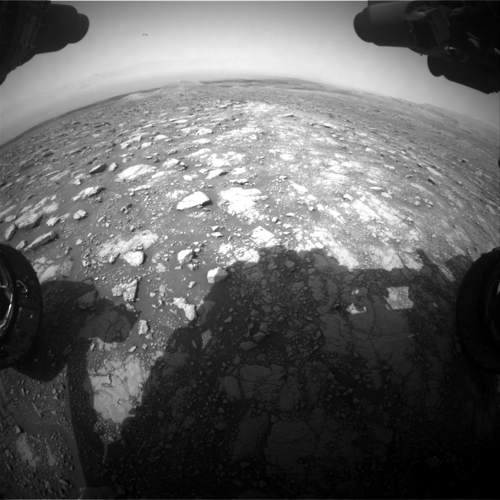 Nasa's Mars rover Curiosity acquired this image using its Front Hazard Avoidance Camera (Front Hazcam) on Sol 3000, at drive 0, site number 85