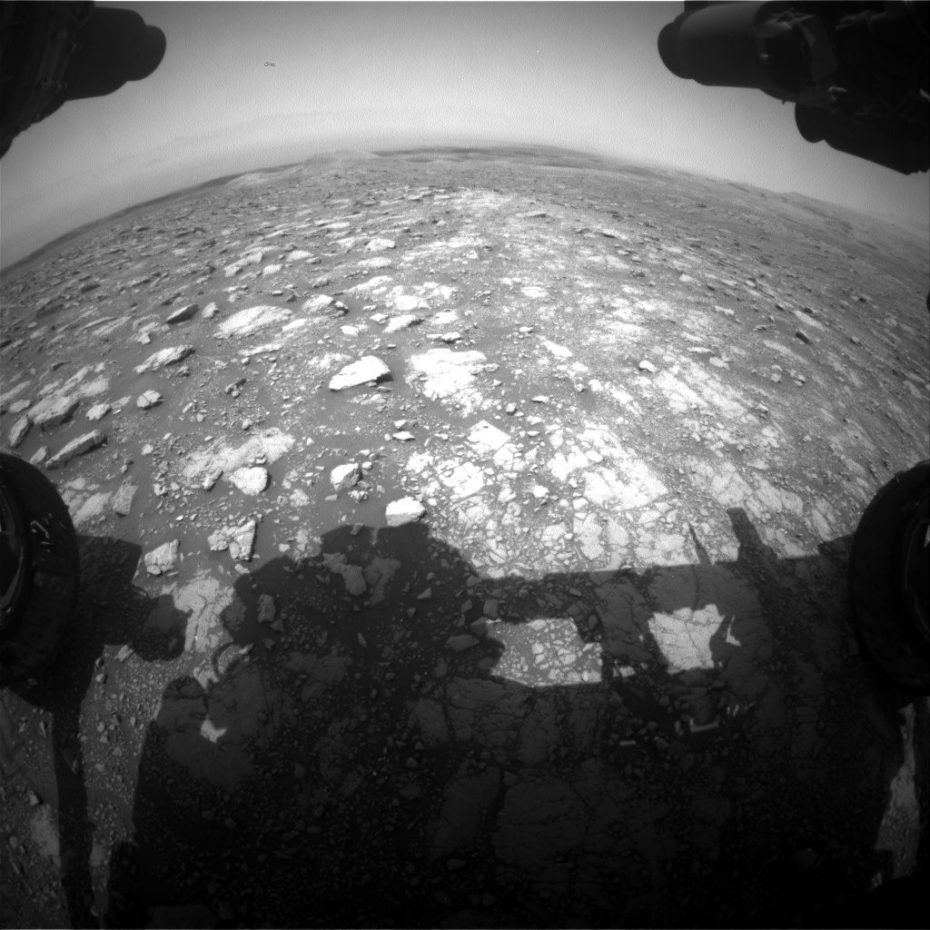 Nasa's Mars rover Curiosity acquired this image using its Front Hazard Avoidance Camera (Front Hazcam) on Sol 3001, at drive 0, site number 85