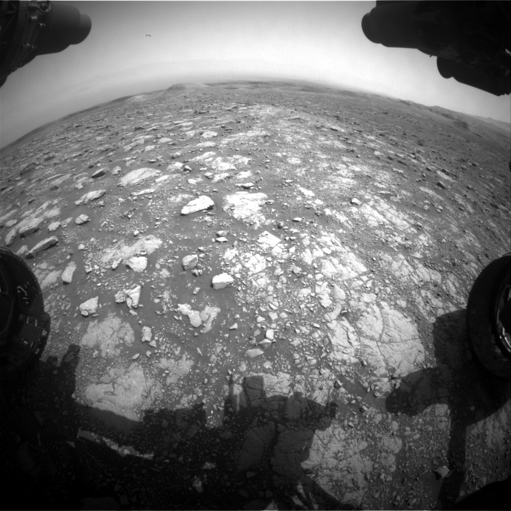 Nasa's Mars rover Curiosity acquired this image using its Front Hazard Avoidance Camera (Front Hazcam) on Sol 3002, at drive 0, site number 85