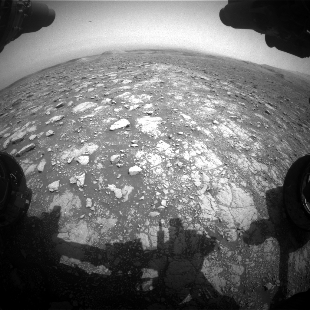 Nasa's Mars rover Curiosity acquired this image using its Front Hazard Avoidance Camera (Front Hazcam) on Sol 3003, at drive 0, site number 85