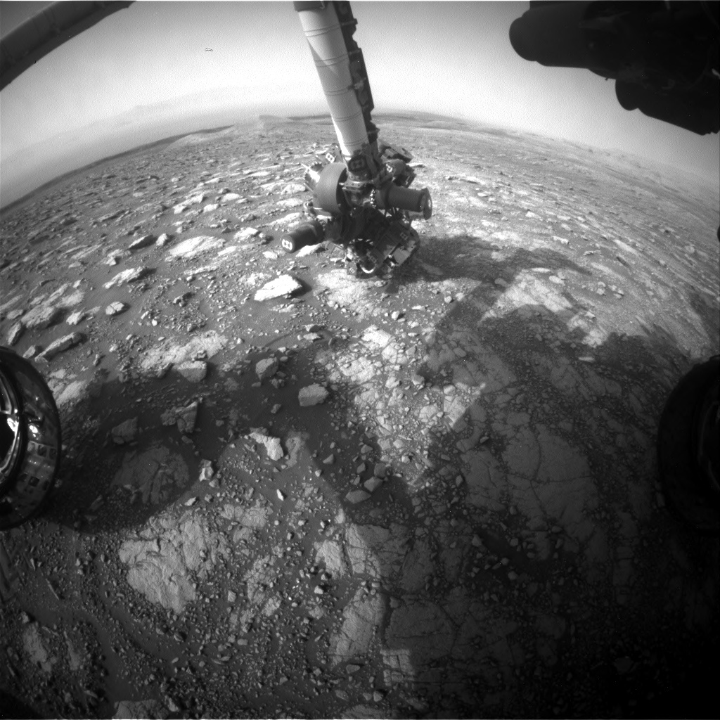 Nasa's Mars rover Curiosity acquired this image using its Front Hazard Avoidance Camera (Front Hazcam) on Sol 3004, at drive 0, site number 85