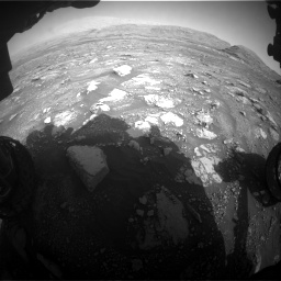 Nasa's Mars rover Curiosity acquired this image using its Front Hazard Avoidance Camera (Front Hazcam) on Sol 3005, at drive 414, site number 85