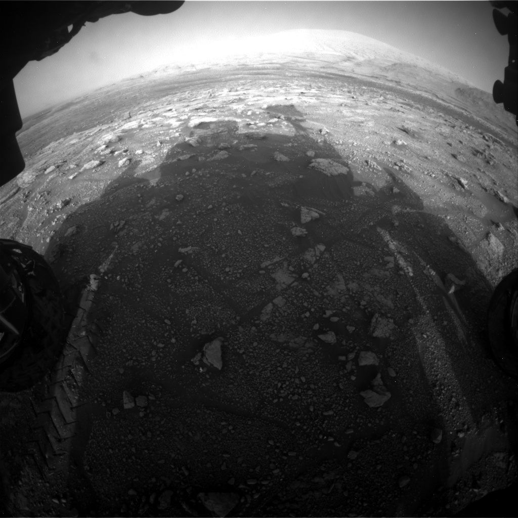Nasa's Mars rover Curiosity acquired this image using its Front Hazard Avoidance Camera (Front Hazcam) on Sol 3005, at drive 538, site number 85