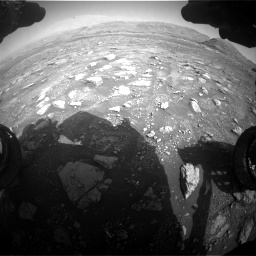 Nasa's Mars rover Curiosity acquired this image using its Front Hazard Avoidance Camera (Front Hazcam) on Sol 3005, at drive 408, site number 85