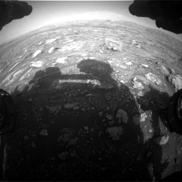 Nasa's Mars rover Curiosity acquired this image using its Front Hazard Avoidance Camera (Front Hazcam) on Sol 3005, at drive 456, site number 85